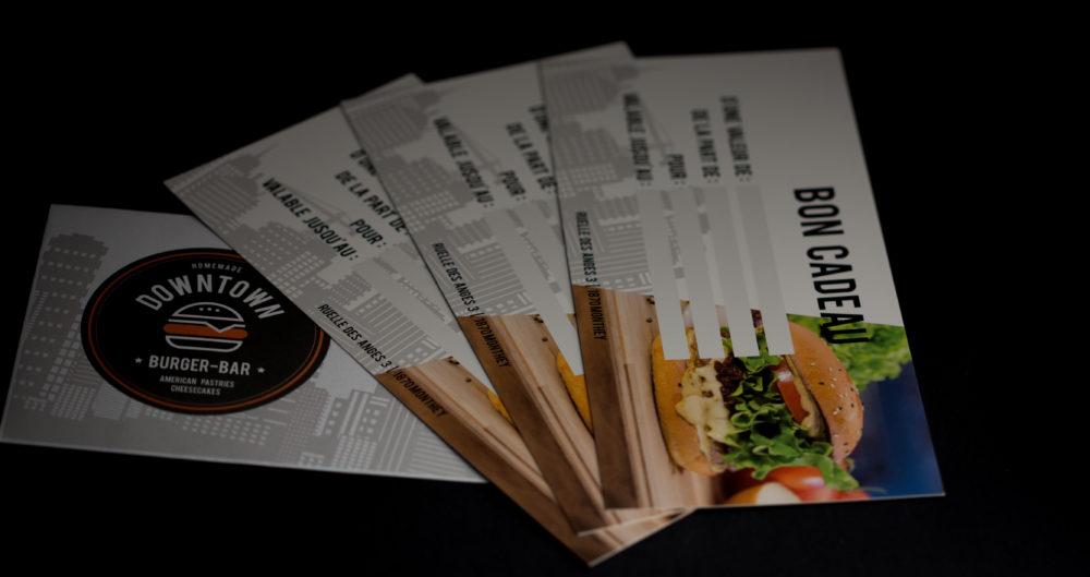 Bons cadeau Downtown Burger